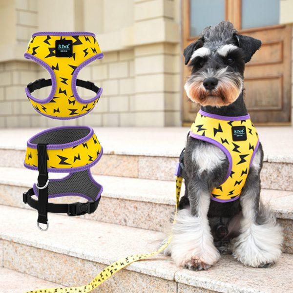 Arnés anti tirón Y de diseño para perros 5
