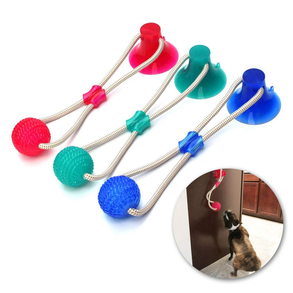Juguete multifuncional antistress + limpieza dental perros 1