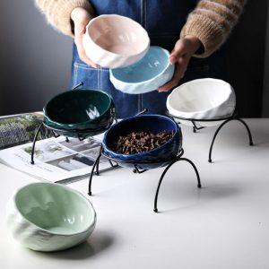 Comedero de cerámica para mascotas, protege la columna vertebral 1