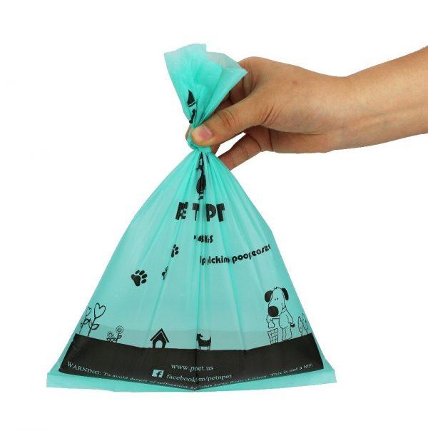 Bolsas biodegradables caca de perro 18 rollos con perfume de lavanda 3