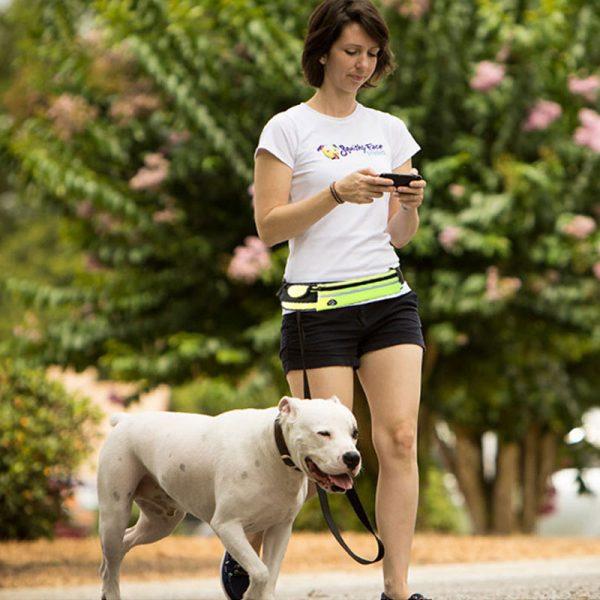 Correa y riñonera manos libres para correr con perro 5