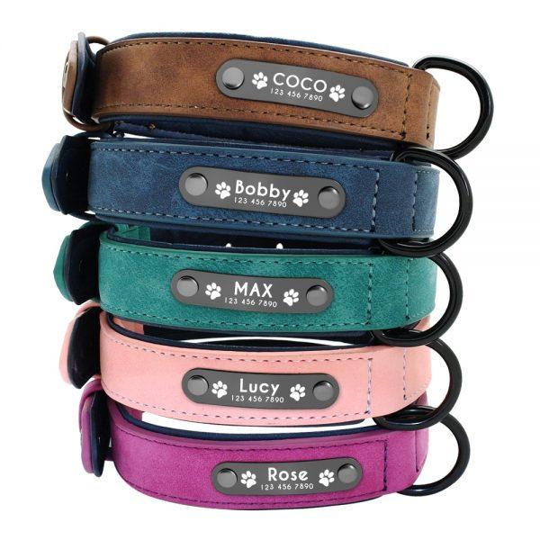 Collar personalizado con nombre + correa para perro 3