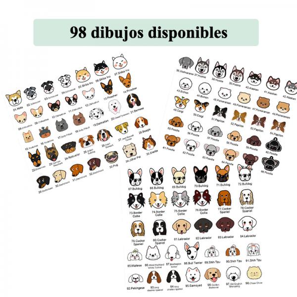 Placa identificativa para mascotas con nombre y dibujo personalizado + 1 in regalo 2