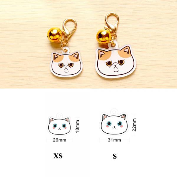 Placa identificativa para gato con nombre y dibujo personalizado + 1 de regalo 5
