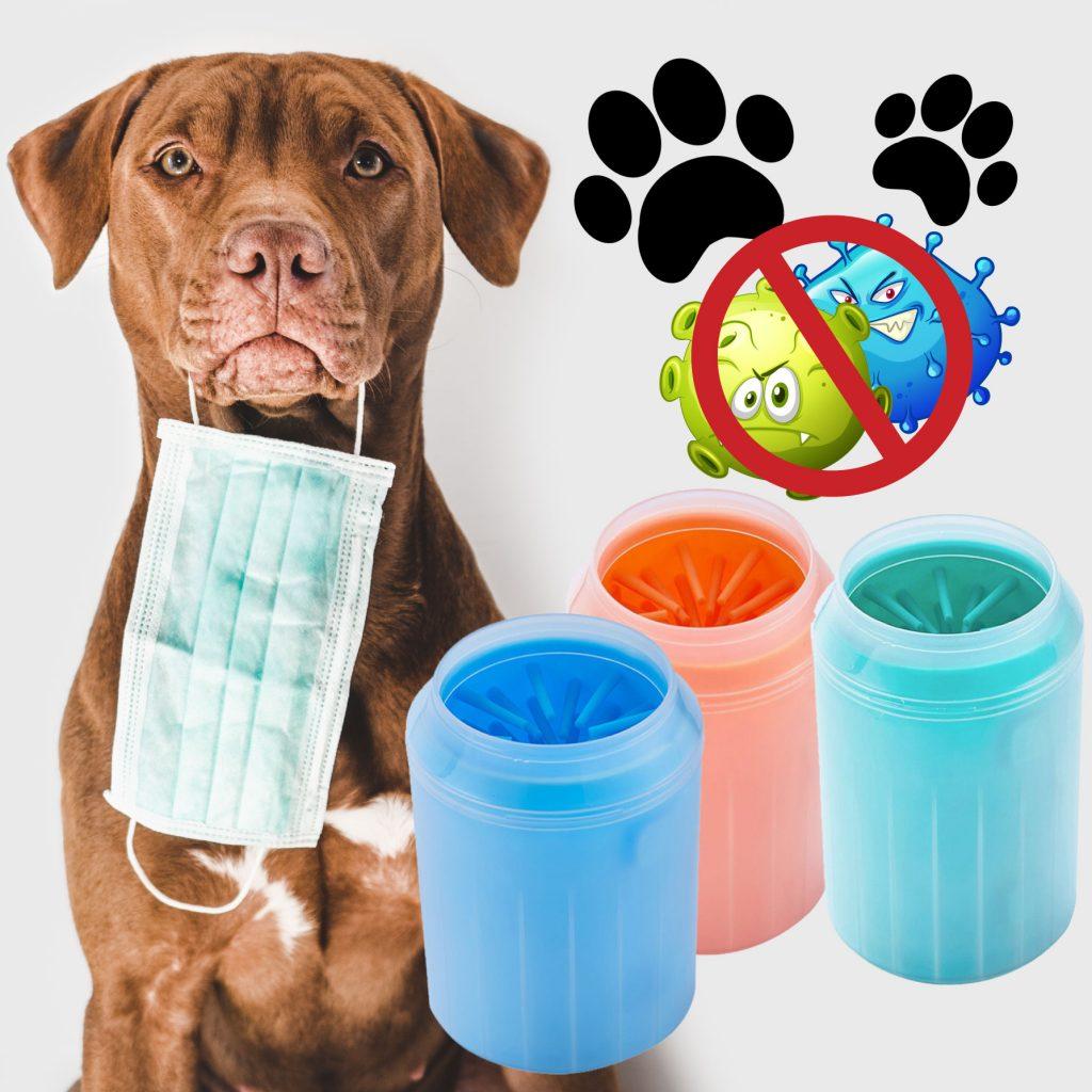 Limpiador de patas para perros, gatos o mascotas