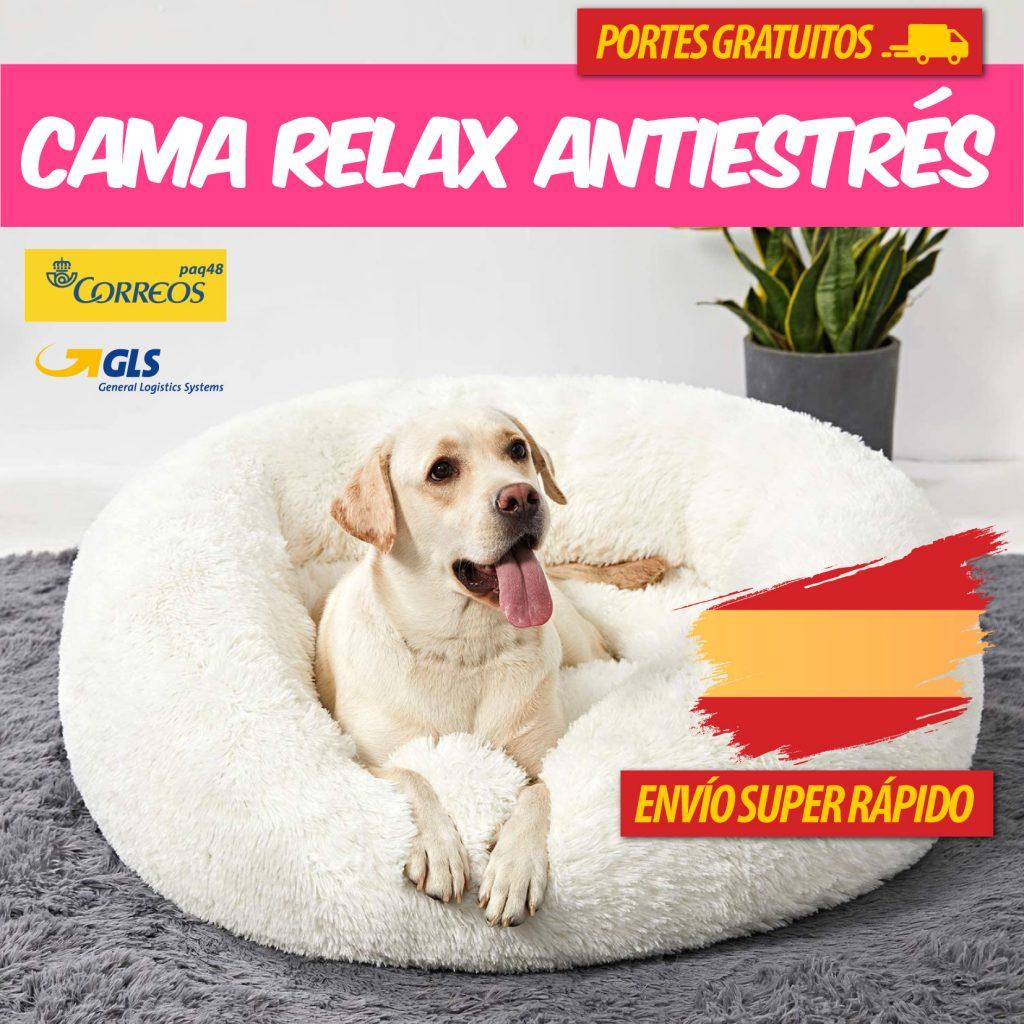 Cama calmante anti ansiedad antiestrés para perros y gato