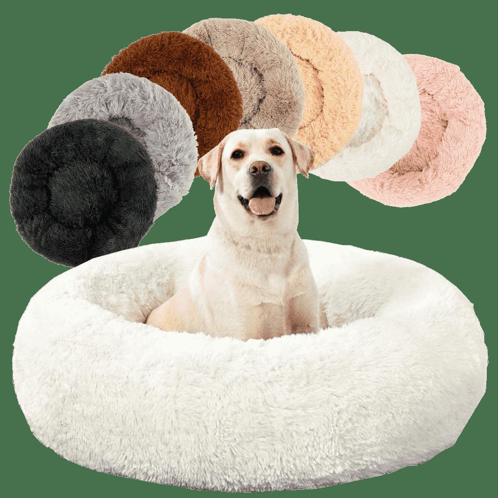 Cama suave calmante anti ansiedad antiestrés perro